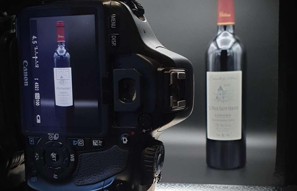 Studio adapté pour vos photographies de bouteilles de vin